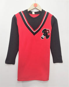 IMPORTED - Red & Black Sweater