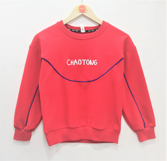 IMPORTED - Red Chaotong Sweat Shirt