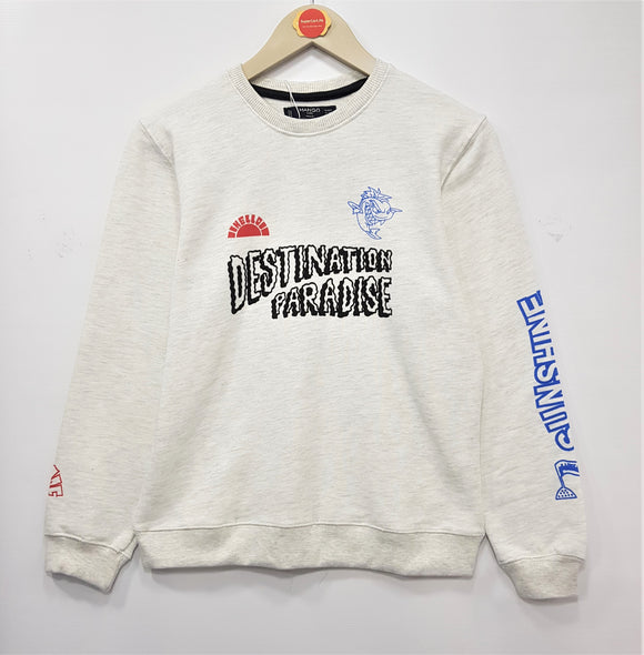 MNG  - Grey Destination Paradise Sweat Shirt