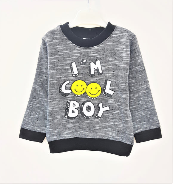 Bclub  - Cool Boy Grey Sweat Shirt