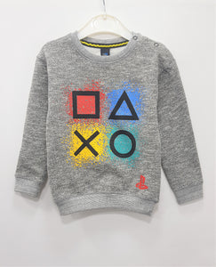 IA  - Grey Printed Sweat Shirt