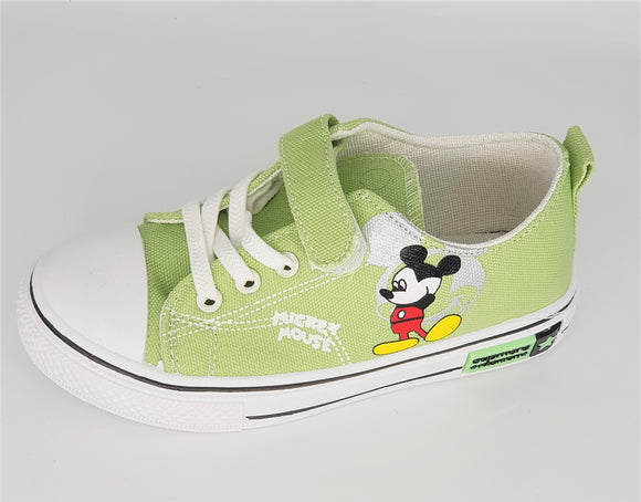 IMPORTED - Green Mickey Mouse Canvas Shoes