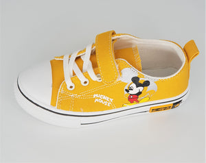 IMPORTED - Yellow Mickey Mouse Canvas Shoes