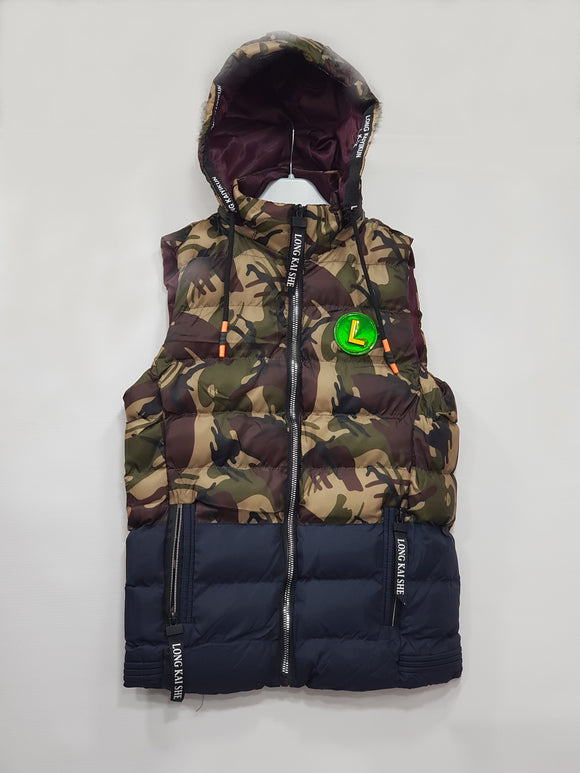 IMPORTED - Camo Puffer Blue Hoodie