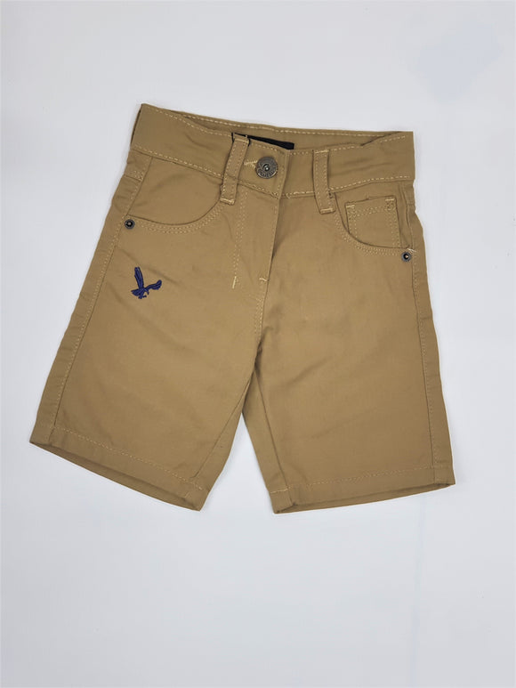 Rc - Eagle Brown Cotton Short