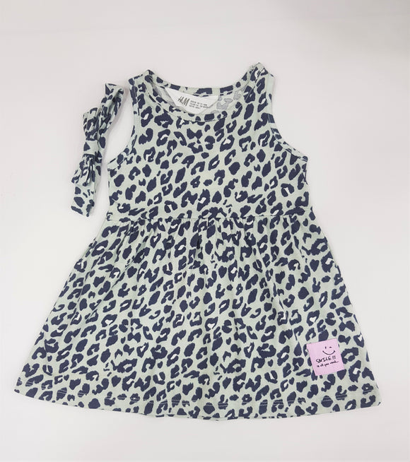 HM - Grey Leopard Jersey Top With Head Band
