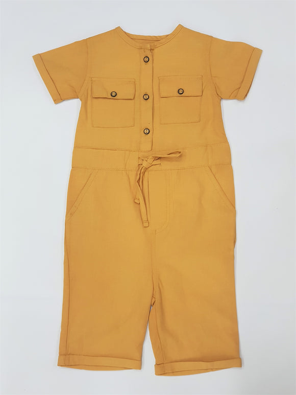 Figo - Girls Jumpsuit Mustard