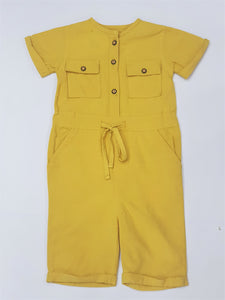 Figo - Girls Jumpsuit Yellow