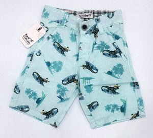 RC - Sky Blue Printed Shorts