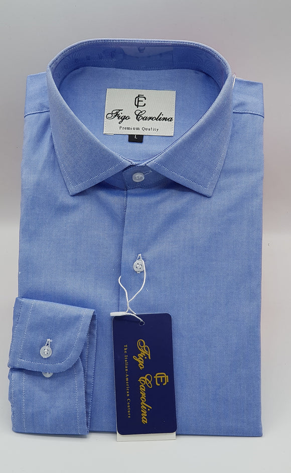 Fine Blue Formal Shirt - Figo & Co.