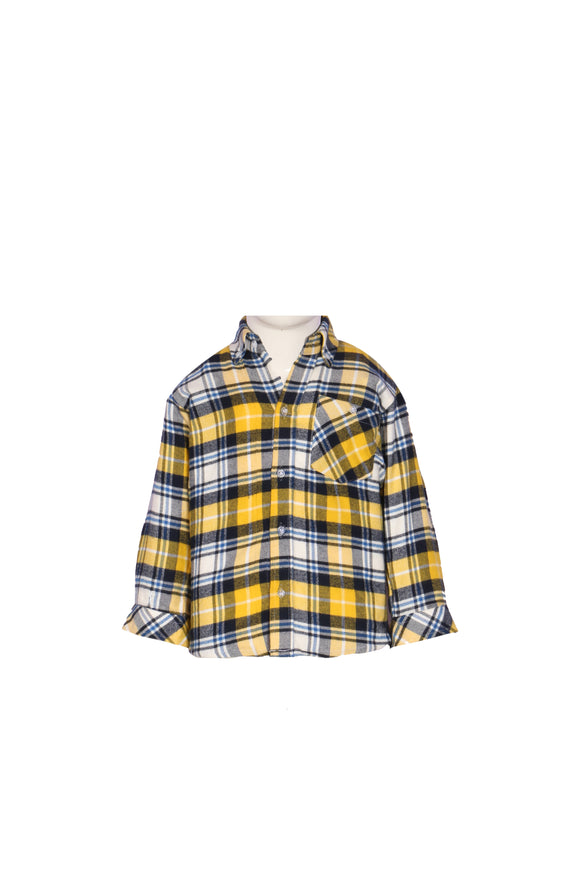 Figo & Co. - Yellow & black Check Shirt