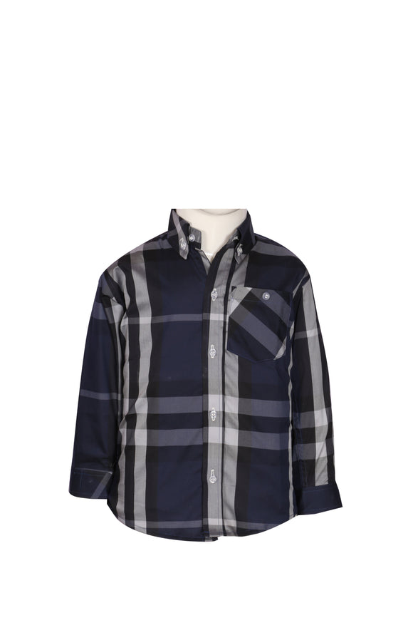 Figo & Co. - Blue & White Check Shirt