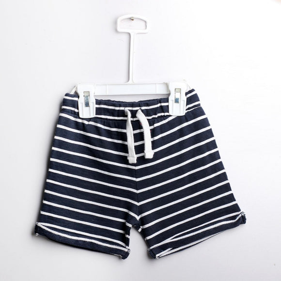 BClub - Navy Blue White Stripe Short