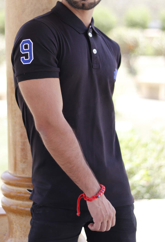 Black Classic Pique Polo - Figo & Co