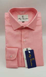 Pink Textured Formal Shirt - Figo & Co.