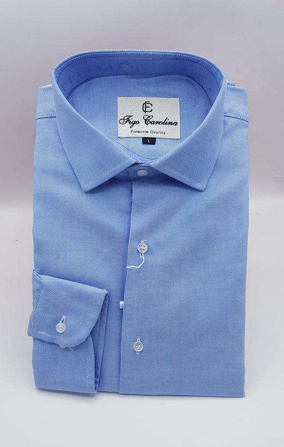 Shimmering Blue Formal Shirt - Figo & Co.