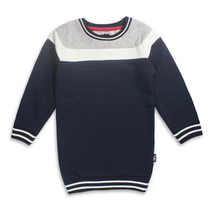 TRSTL - Grey & Blue Girls Long Sweat shirt