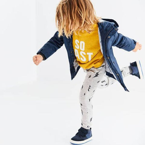 ZR- kids Basic Trouser Electric Print