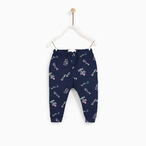 Bclub - Navy Blue Dogs+Cats Trouser