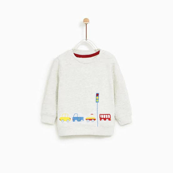 Bclub - Light Grey Traffic Signal Sweat Shirt