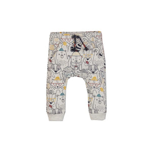 Bclub - Light Grey Cat Print Trouser