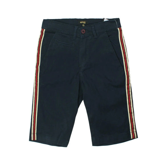 RT - Navy Stripe Cotton Shorts