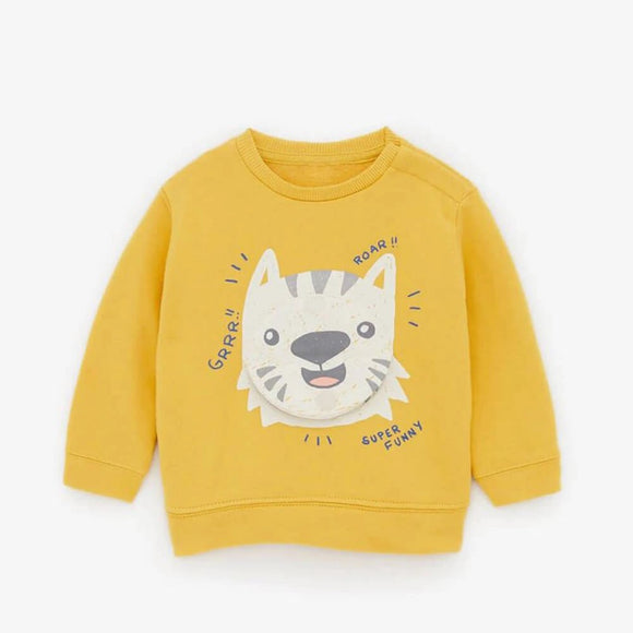 ZR  - Mustard Lion Face SweatShirt