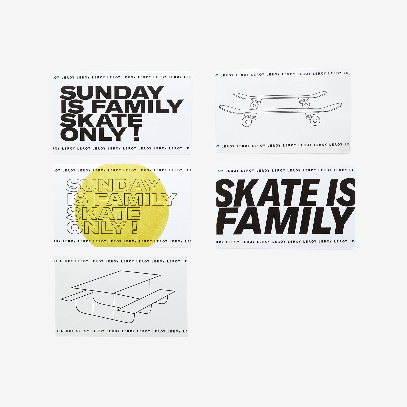 Stickers Family skates