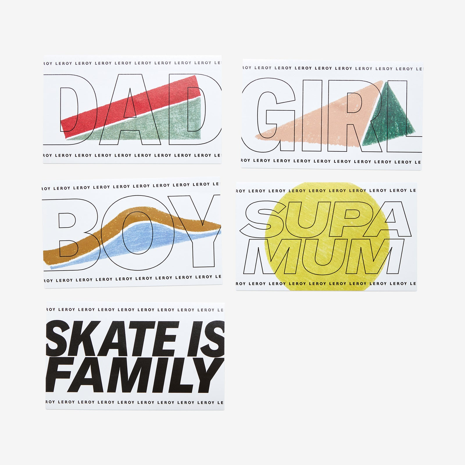 Stickers Family : Dad, Supamum, Boy & Girl