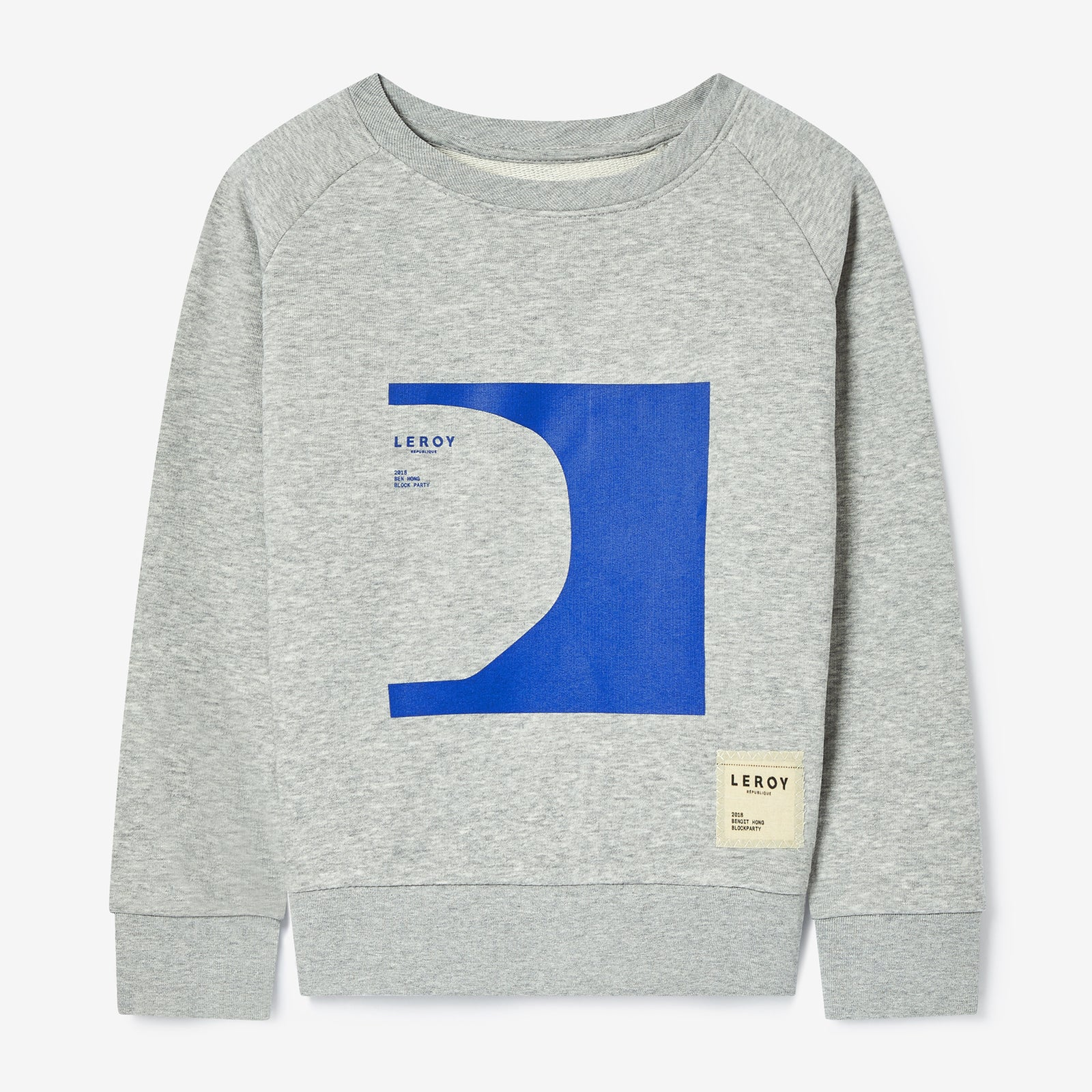 Halfpipe kid klein blue crew neck