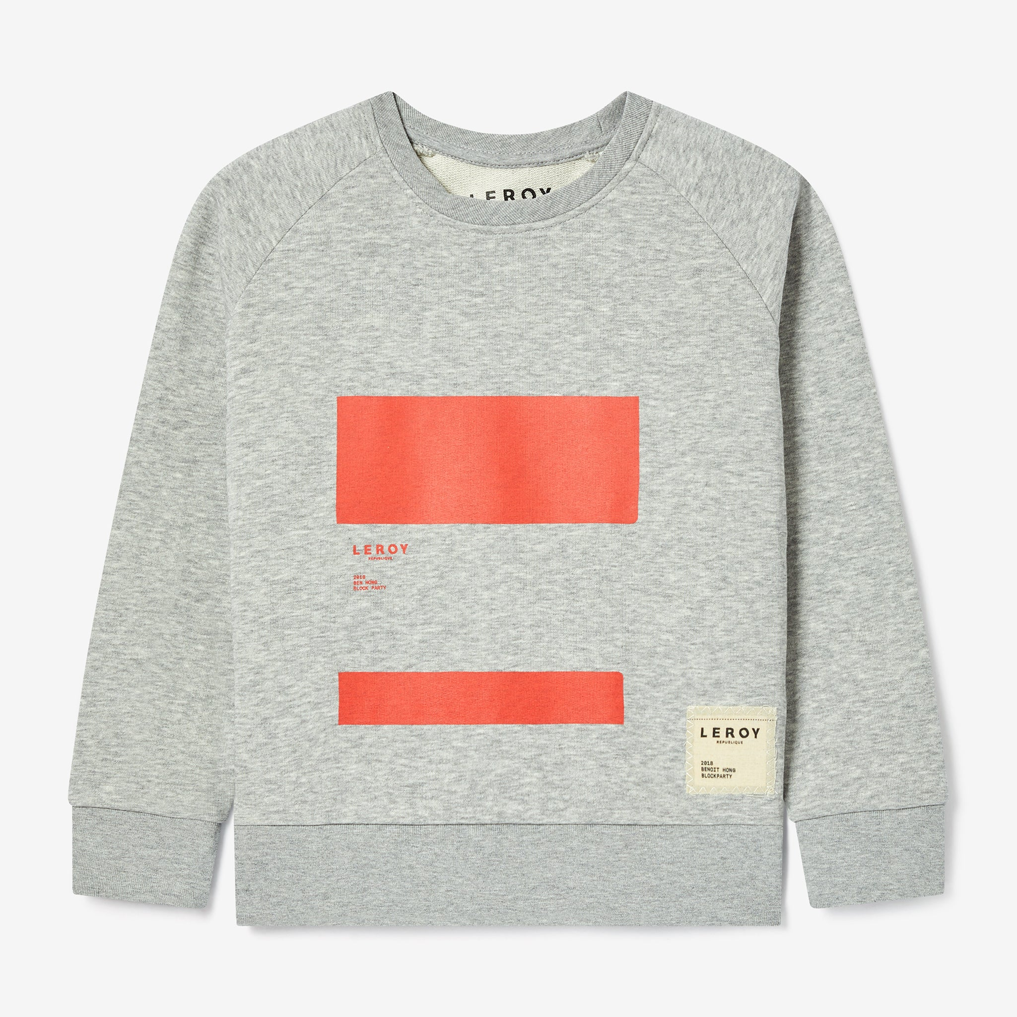 Ledge kid bright red crew neck
