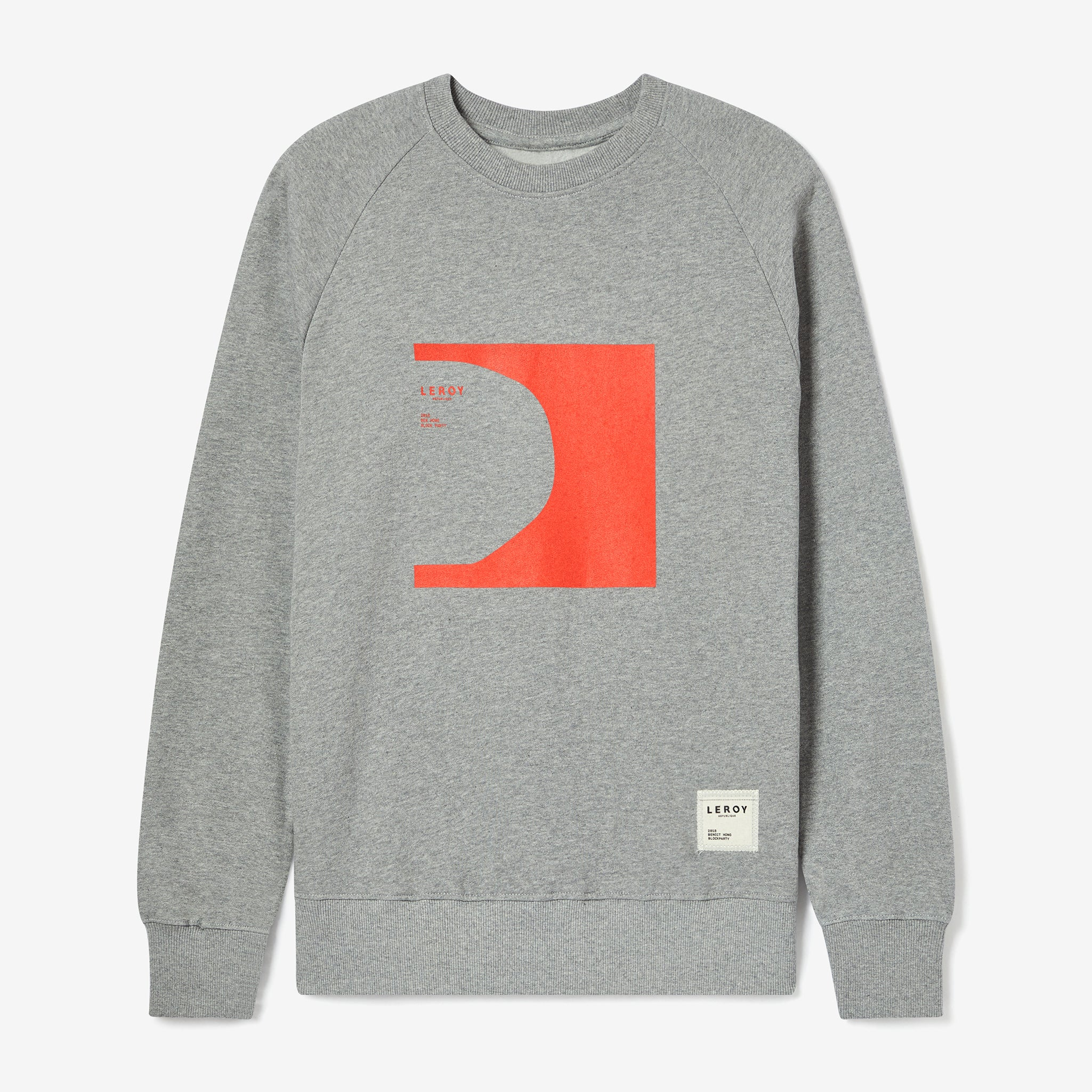 Halfpipe bright red crew neck