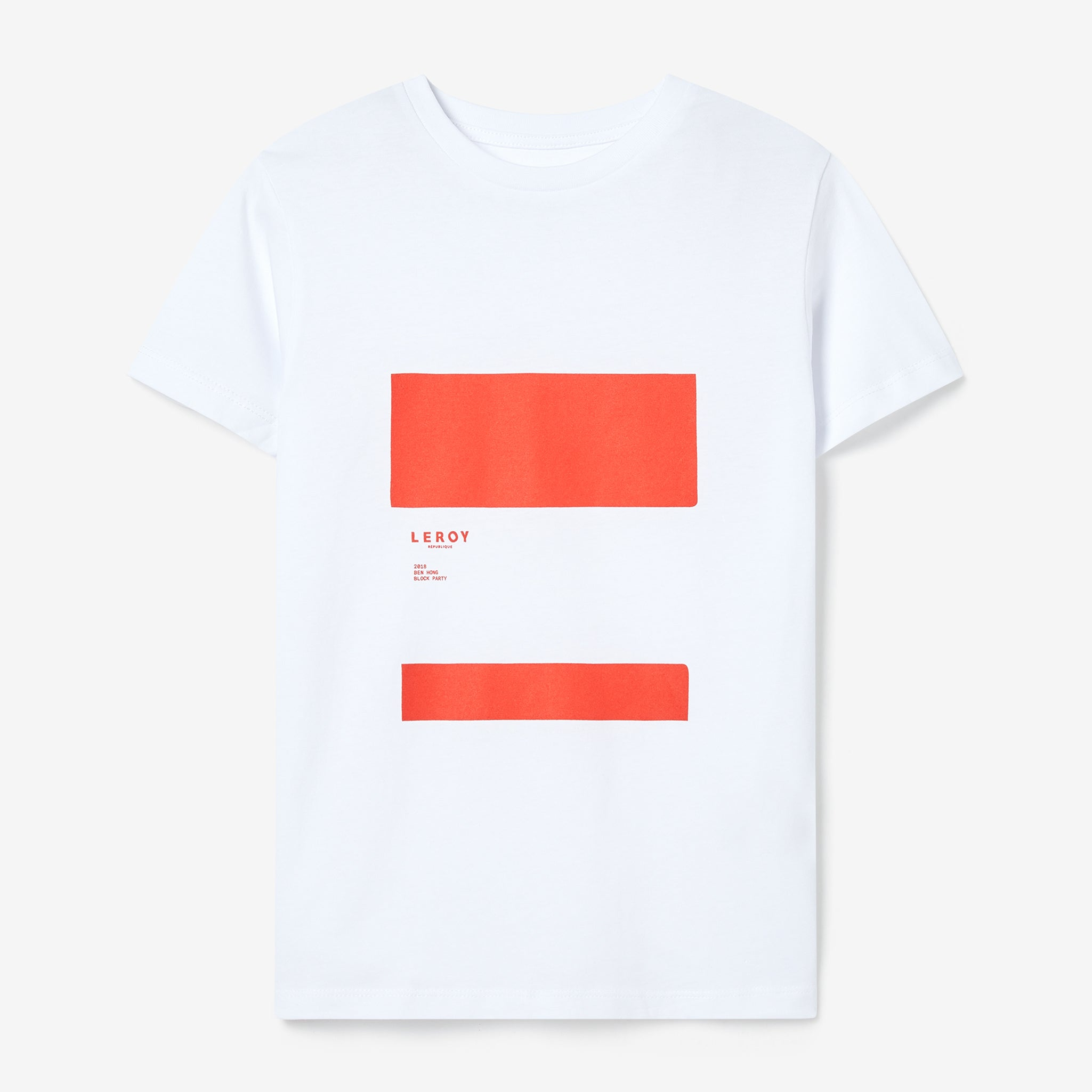 Ledge kid bright red T-shirt
