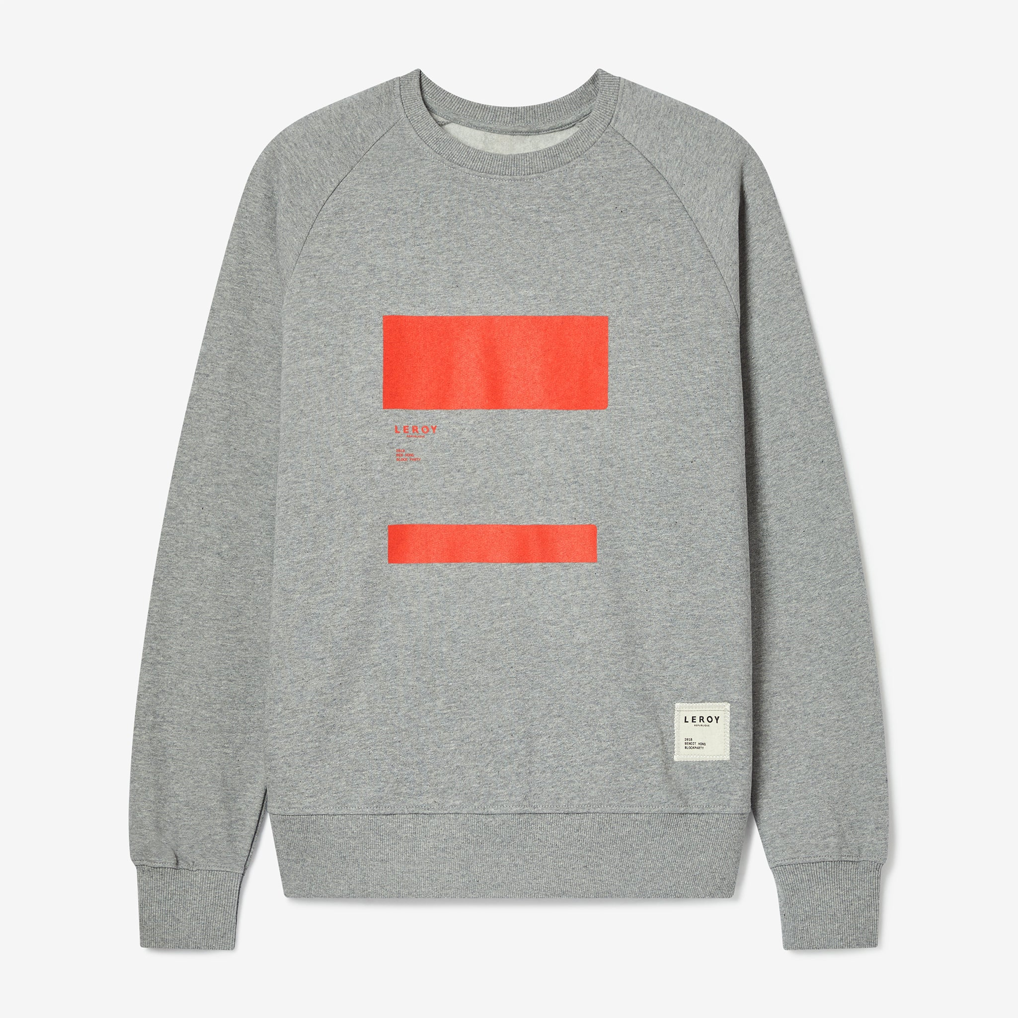 Ledge bright red crew neck