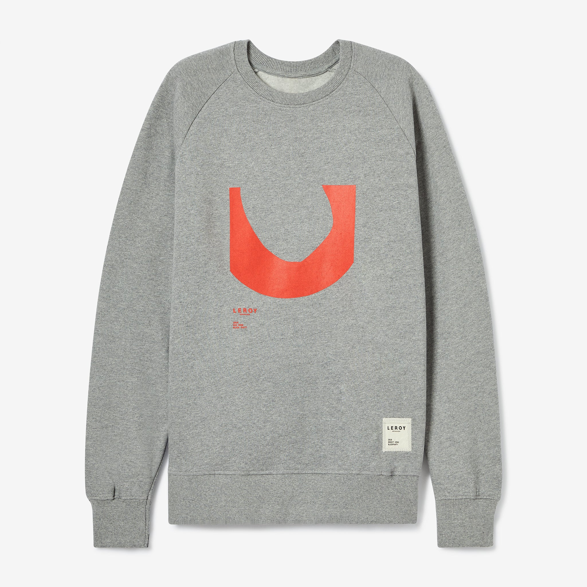 Ditch bright red crew neck