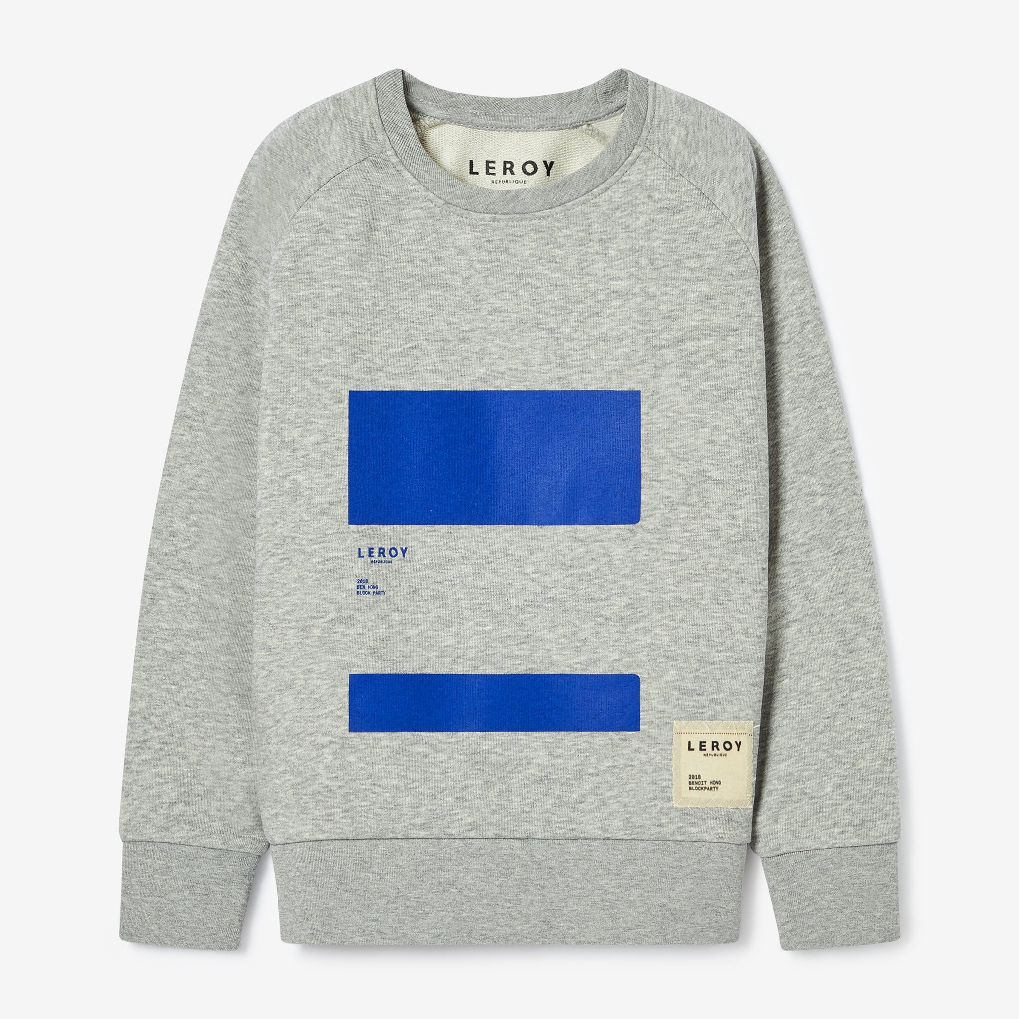 Ledge kid klein blue crew neck