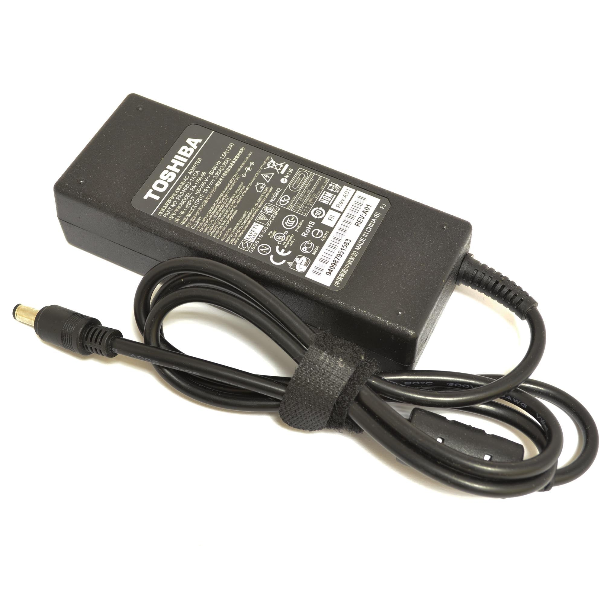 Toshiba 75W 19V 3.95A 5.5*2.5mm Replacement Laptop AC Adapter Charger