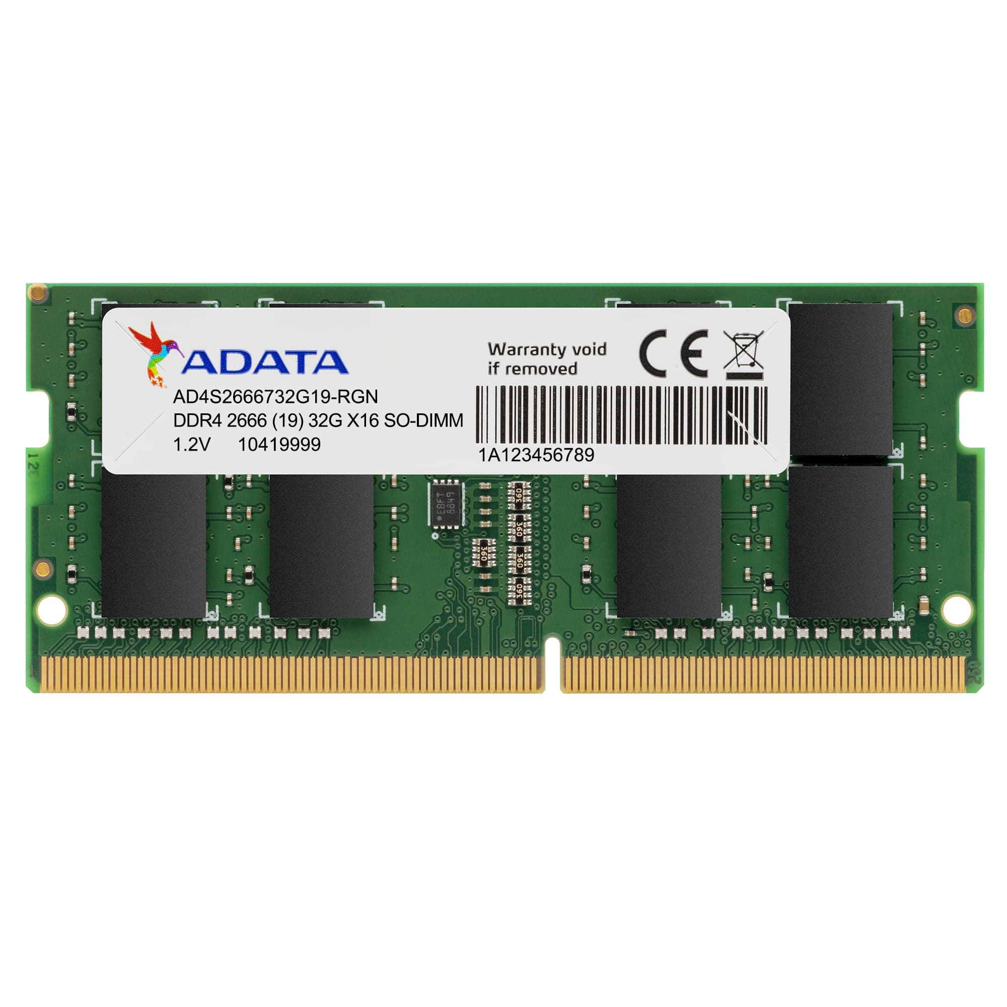 ADATA 32GB DDR4 2666MHz SO-DIMM Laptop RAM