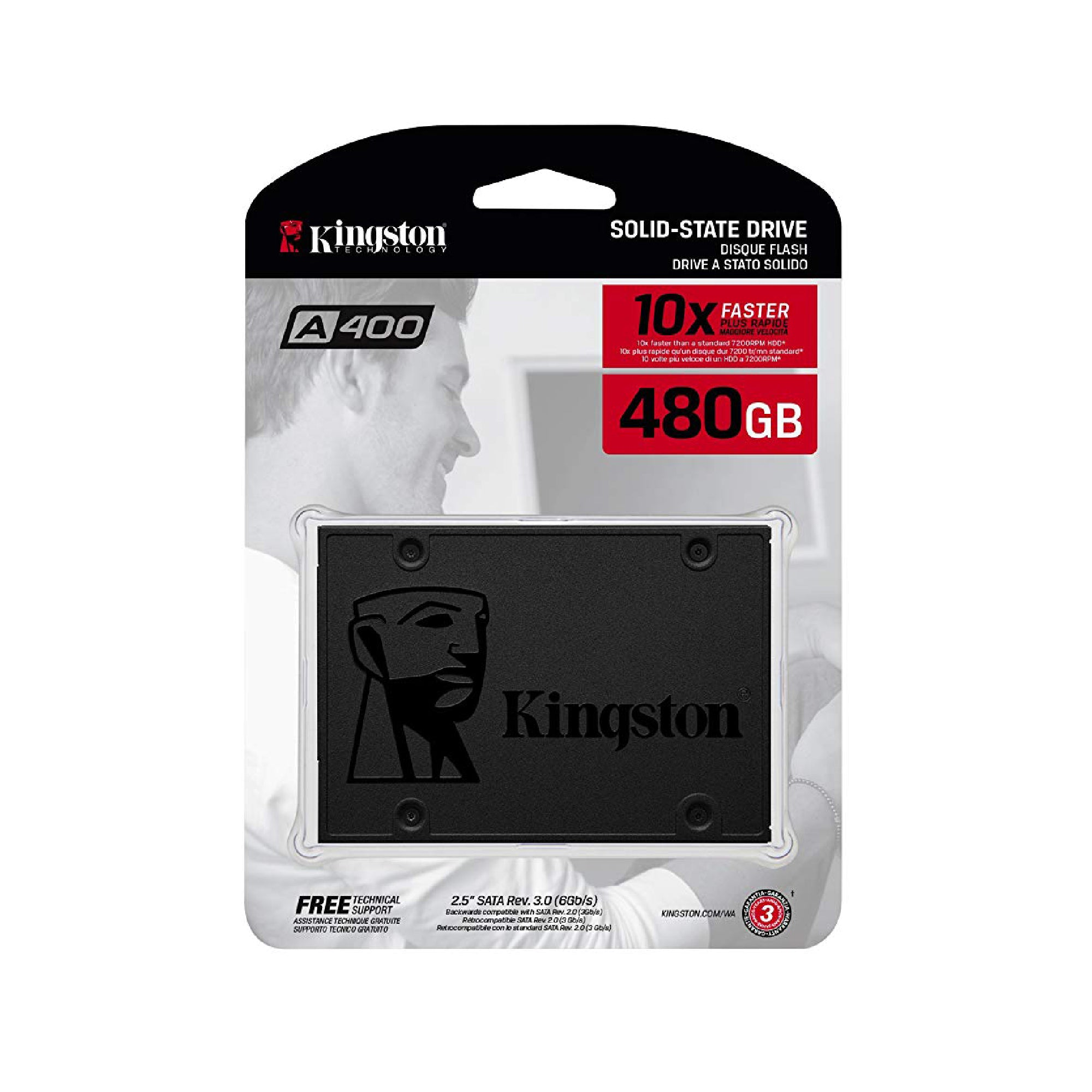 "Kingston A400 480GB 2.5"" SATA3 Solid State Drive"