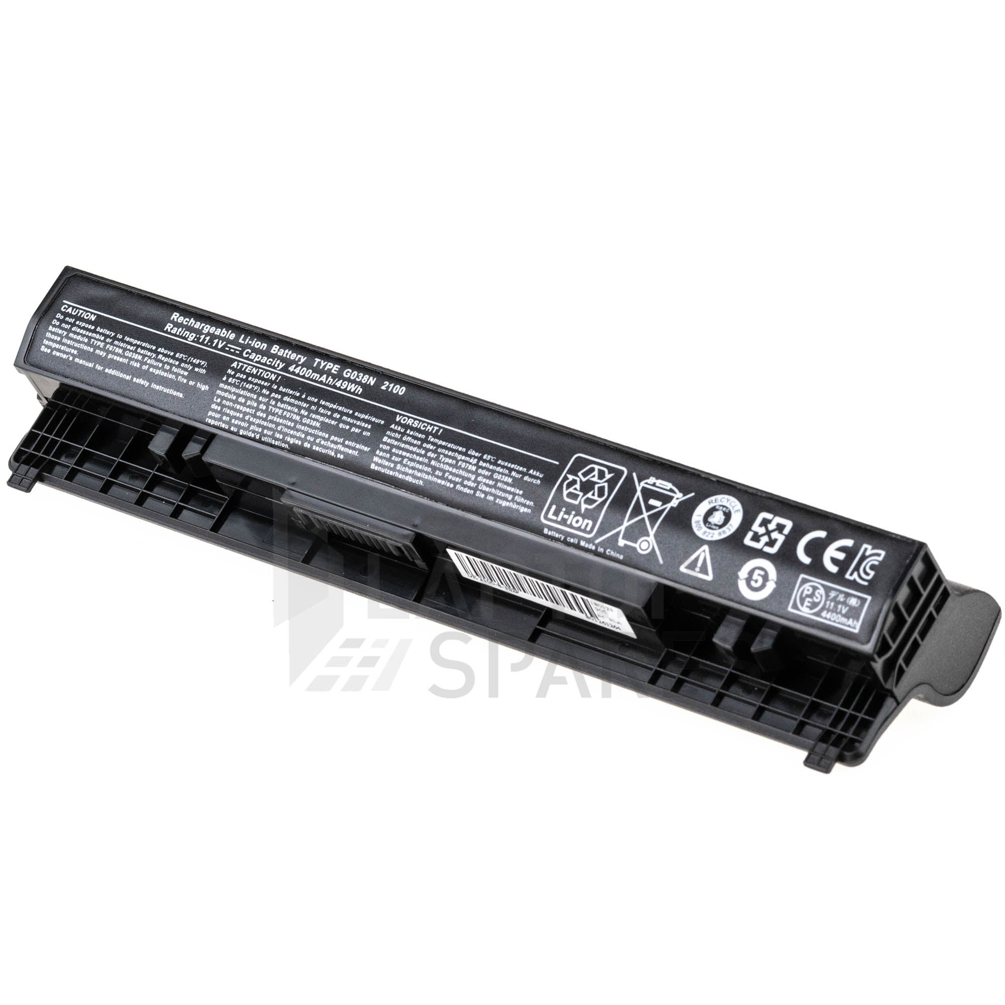 Dell Latitude 2100 G038N 4400mAh 6 Cell Battery