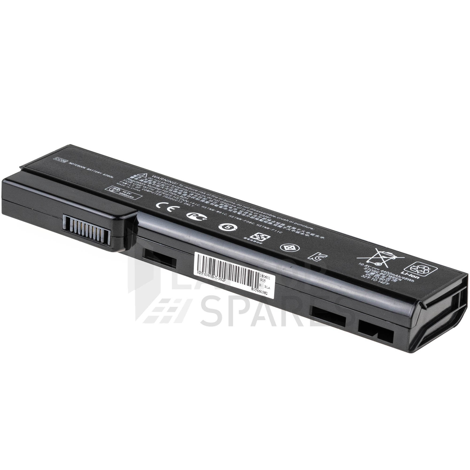 HP EliteBook 8560p 4400mAh 6 Cell Battery