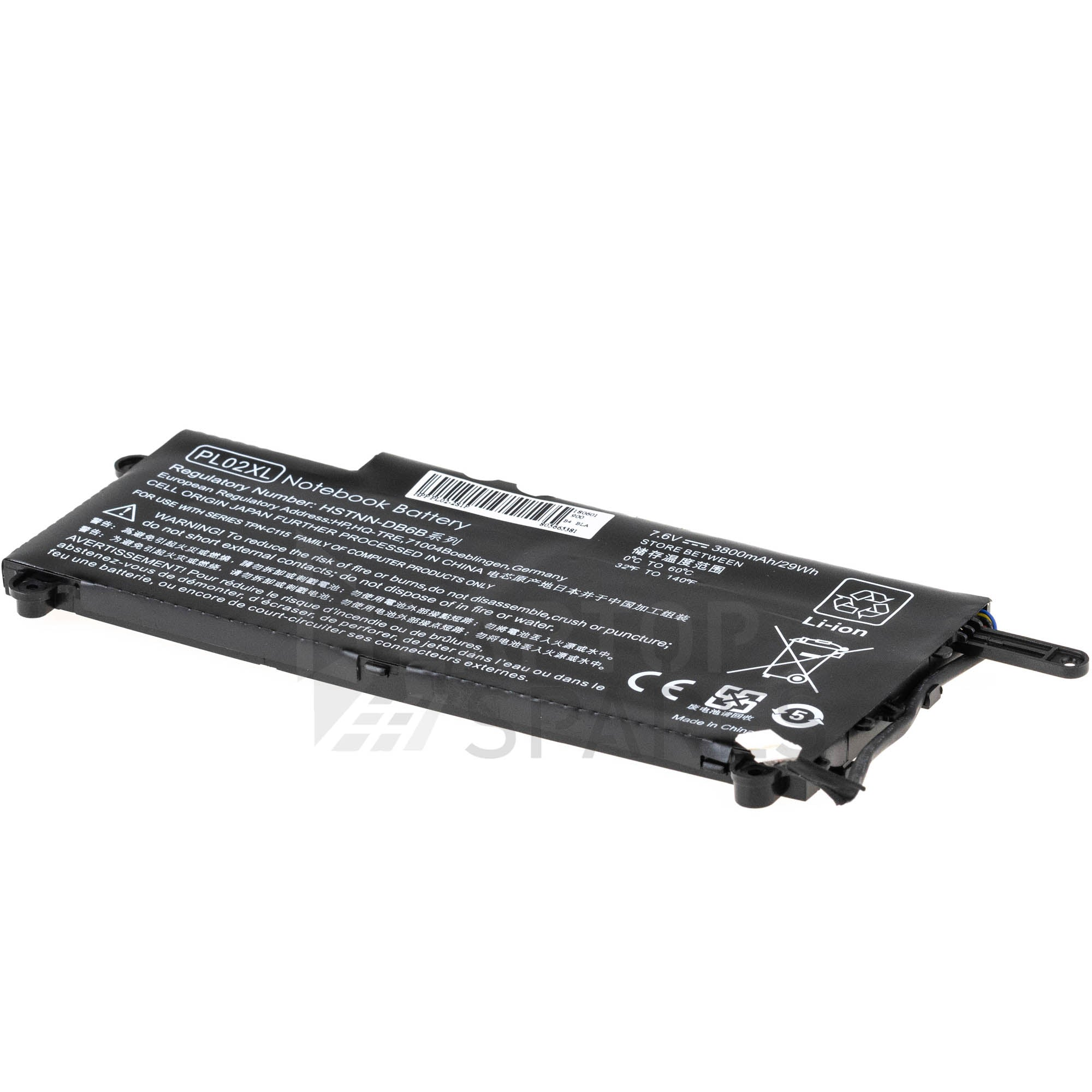 HP HSTNN-LB6B PL02X 3800mAh 4 Cell Battery