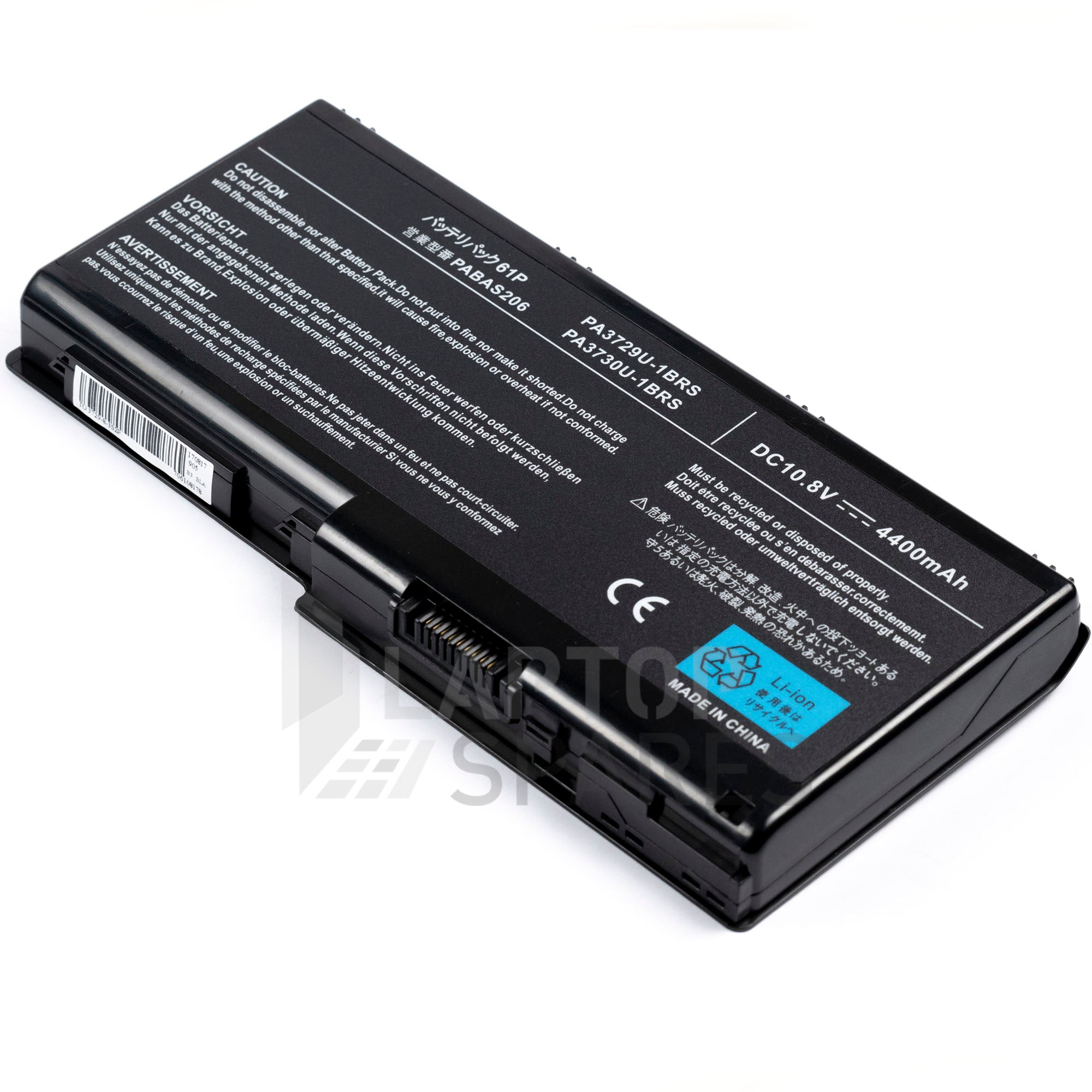 Toshiba PA3729U-1BAS PA3729U-1BRS PA3730U-1BAS PA3730U-1BRS 4400mAh 6 Cell Battery