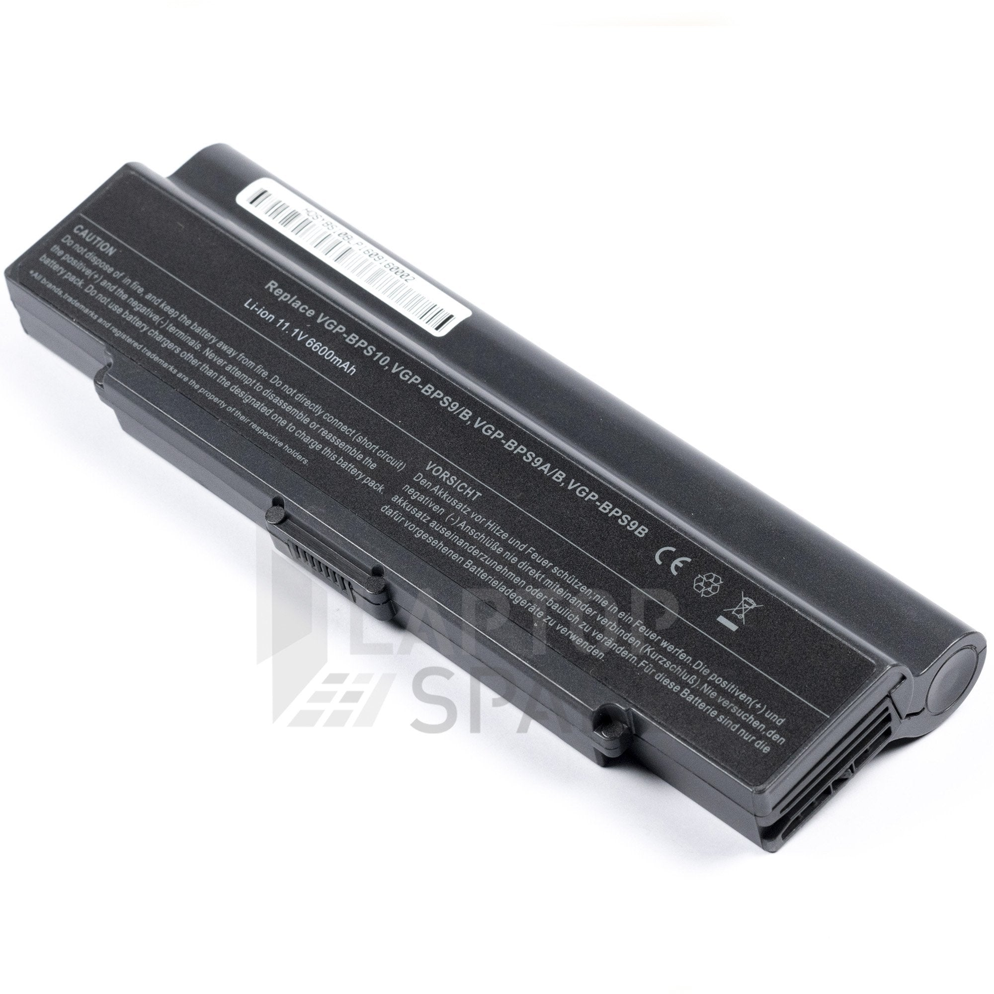 Sony Vaio VGN CR590EBP 6600mAh 9 Cell Battery