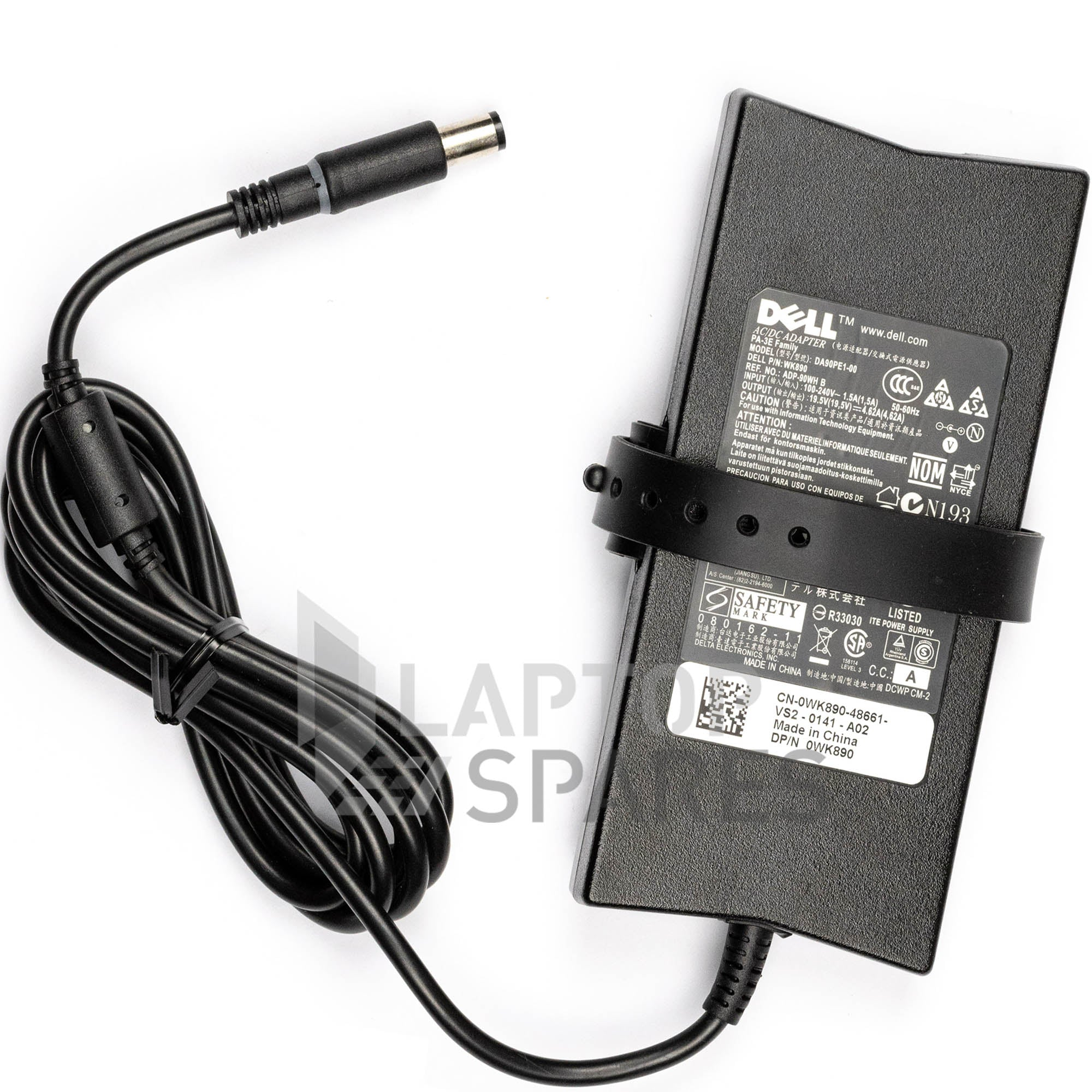 Dell 90W 19.5V 4.62A 7.4*5.0mm Laptop Slim AC Adapter Charger