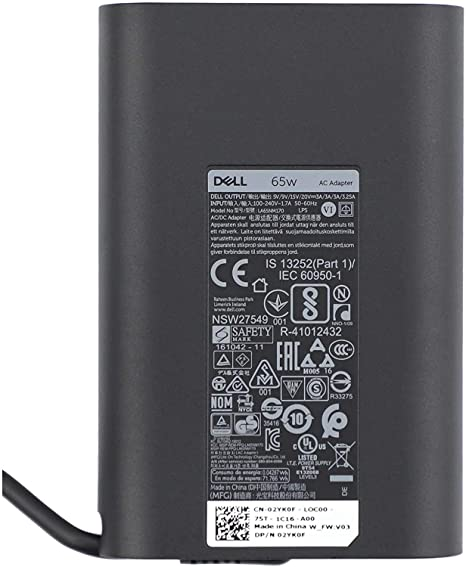 Dell Original USB-C 65W Laptop AC Adapter Charger