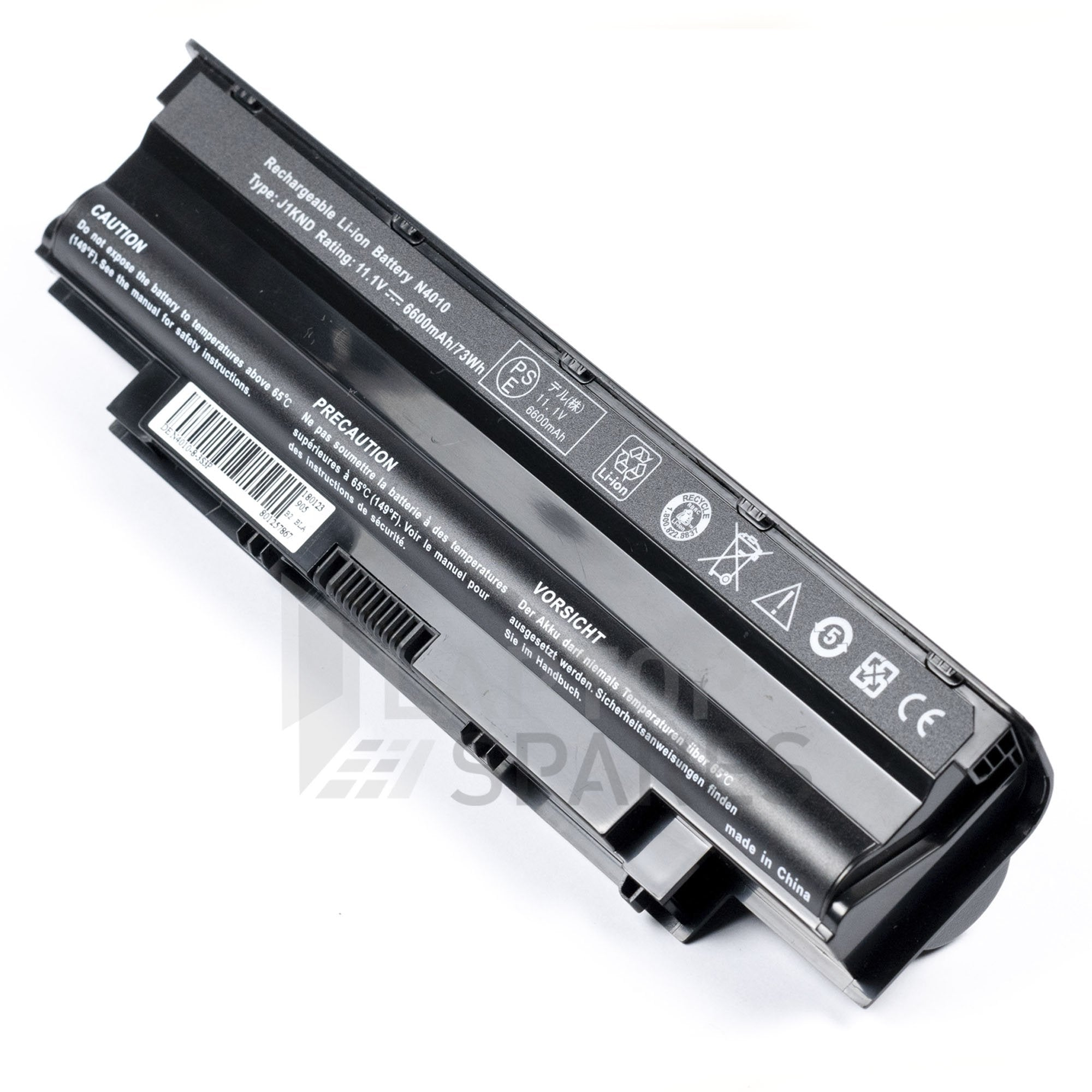Dell Inspiron 14R T510401TW 6600mAh 9 Cell Battery