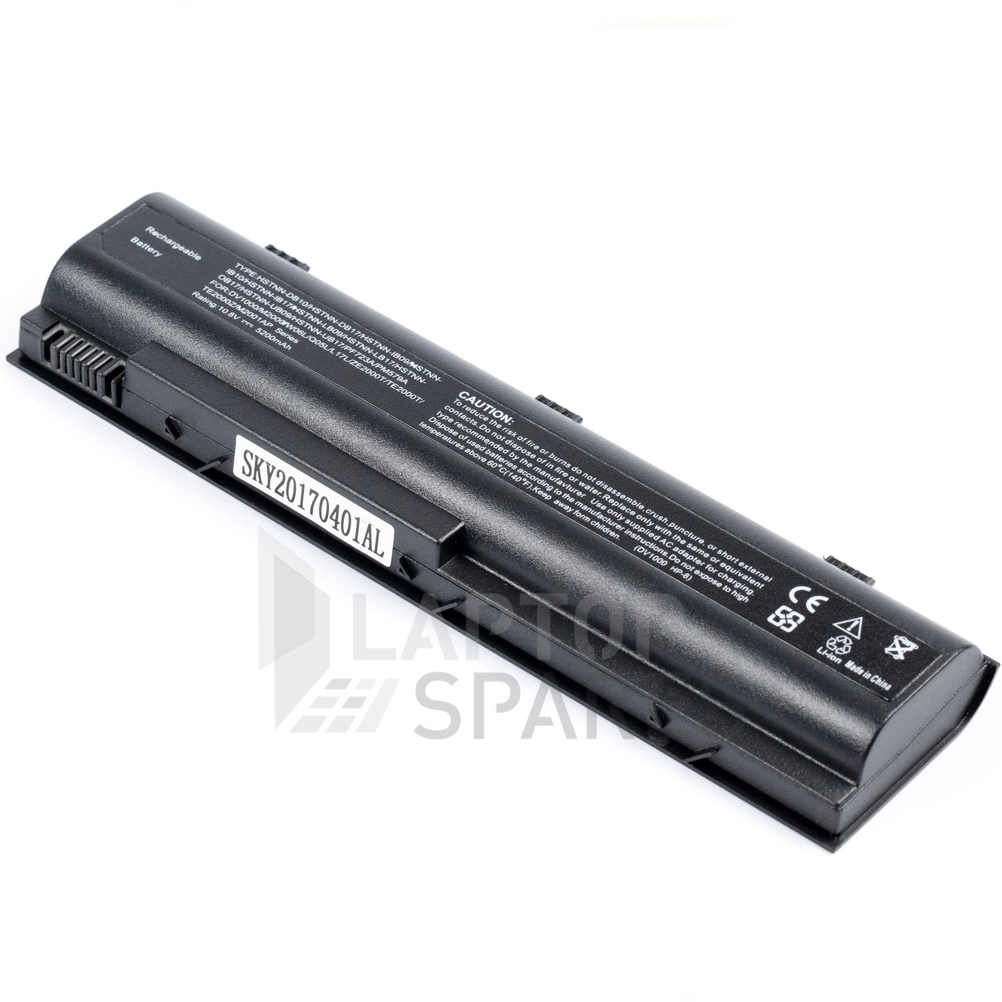 HP Pavilion DV1000 4400mAh 6 Cell Battery