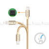 Apple iPhone iPad MFi Certified Lightning USB Fast Charge and Sync Cable Gold