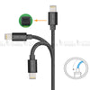 Apple iPhone iPad MFi Certified Lightning USB Fast Charge and Sync Cable